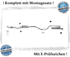 Auspuffanlage Opel Corsa D 1.4 16V Auspuff Endtopf Mitteltopf Montagesatz Sport