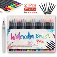 Watercolor Drawing Painting Brush Artist Sketch Manga Marker Pen 20 Colors Newly