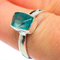 Blue Fluorite 925 Sterling Silver Ring Size 8 Ana Co Jewelry R48330F