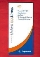 Pocket Timetable ~ Stagecoach in Oxfordshire - 600: Hospital P&R - June 2010