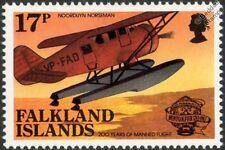 NOORDUYN NORSEMAN Airplane Aircraft Stamp (1983 Falkland Islands)