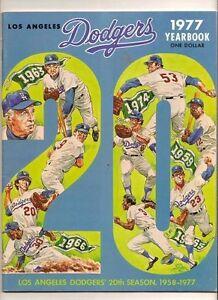 1977 Los Angeles Dodgers Yearbook