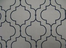 """58"""" wide Navy 100% cotton Embroidered Upholstery Fabrics fabric by the yard"""