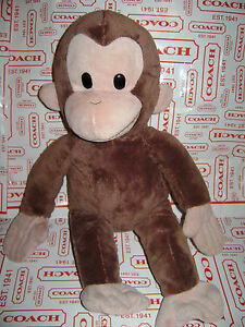 "APPLAUSE by RUSS CURIOUS GEORGE 16"" MONKEY PLUSH STUFFED ANIMAL BROWN VERY CUTE"