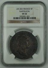 AN. XI-A France Five Franc Silver Coin 5F Napoleon NGC VF-35 AKR