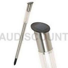 LOT 2 POTELET JARDIN BORNE ECLAIRAGE SOLAIRE DESIGN TUBE INOX SOLAIRE NEUF 21