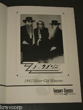 Zz Top '1992 Nordoff-Robbins Silver Clef Event' Program