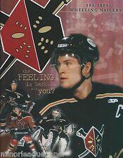 2004-05 Wheeling Nailers East Coast Hockey League Program - ECHL