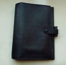 Vintage Filofax Personal Organizador Diario De Cuero Negro Suave Kensington - 133010