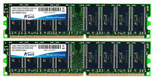 2GB A-Data DDR PC3200 400MHz CL3 Dual Channel kit (2x1GB)