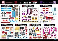 Transformers Titans Return Astrotrain Alpha Trion Soundwave Sticker