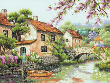 Cross Stitch Kit ~ Dimensions European Countryside Village Canal #70-35330
