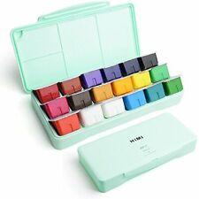 Miya Gouache Paint Set, 18 Colors x 30ml Unique Jelly Cup Design, Portable Case