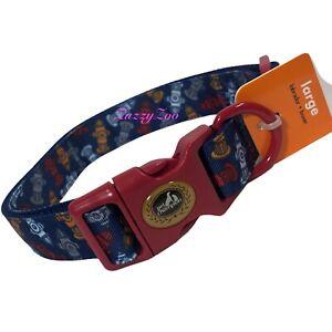 "Dog Collar Large Champion Adjustable Buckle 1""x 16-26"" Fire Hydrant Design Blue"