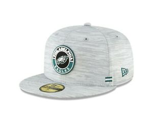 Philadelphia Eagles New Era 2020 NFL Sideline Official 59FIFTY Fitted Hat - Gray