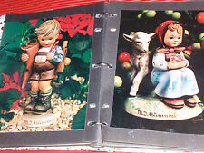 Vintage Binder / Scrapbook Of Hummel Figures. 7.5 X 9.5 Inch. Color Photographs