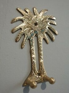 HAND CRAFTED MOROCCAN BRASS PALM TREE  ~ KEY HOOK ~