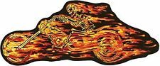 "Flaming Skull Rider Left Patch5"" x 10"" # PAT-A49"