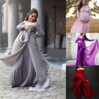Pregnant Woman Maternity Lace Dress Maxi Gown Photography Photo Party Clothing