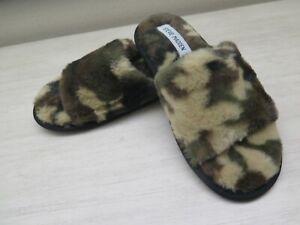 Steve Madden Women Sz 9 Shear Plush Slide Slipper - CAMO Camoflauge $58+