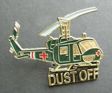 DUST OFF HELICOPTER LAPEL HAT PIN 2.1 INCHES BELL IROQUOIS HUEY MEDIVAC