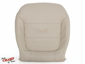 2011-2016 Volkswagen Jetta-Driver Side Bottom Replacement Leather Seat Cover Tan