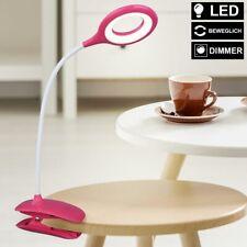 LED Pinza Luz Regulador Táctil Lámpara de Mesa Salón Flexo Foco Reflector Fucsia