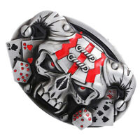 Gothic Rock Punk 3D Skull Skeleton Head Belt Buckle Motorcycle Biker