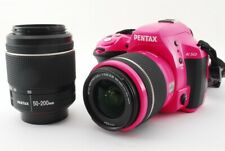 Pentax K-50 16.3MP 18-55/50-200mm Lens Set Pink [Exc w/Strap Japan [5467]