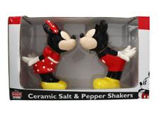 Disney Mickey & Minnie Ceramic Salt & Pepper Shakers *New*