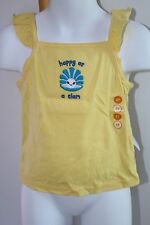 Gymboree Sea Splash Girls Size 5T NEW Top Beach NWT Yellow Tank Happy as a Clam