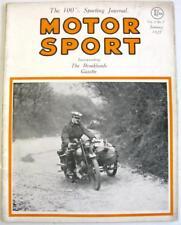 MOTOR SPORT Brooklands Gazette Jan 1927 Vol 3 No 7 Original Motoring Magazine