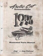 1996 Arctic Cat Snowmobile Jag, Jag Deluxe Parts Manual P/N 2255-321 (708)