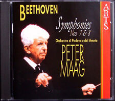 Peter Maag: Beethoven Symphony No. 7 & 8 Arts Music CD 1995 sinfonie