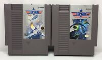 Nintendo NES Top Gun + Top Gun: The Second Mission Game Carts *Authentic/Tested*