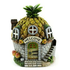 Fairy Garden Solar Pineapple House, Gnome House, Gift for Pineapple Collector