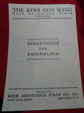 Kerr Sling Directions for Assembling