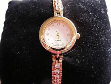 Luxury Dress Watch Gold Plated Bracelet Wrist Watches  Fashion Women Crystal