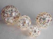 655127 formano Boule Mosaïque bille 15cm Argent Multicolore Lumière avec