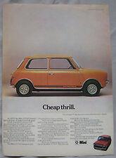 1973 Mini 1275 GT Original advert No.1