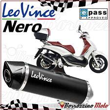 TERMINALE SCARICO OMOLOGATO LEOVINCE NERO INOX PIAGGIO BEVERLY 350 2012 2013
