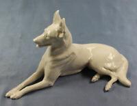 ac weißer schäferhund hundefigur porzellanfigur kärner nymphenburg