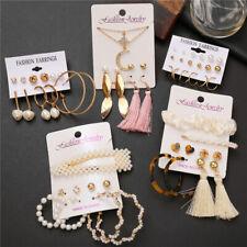 Lots Wholesale Bulk Crystal Pearl Ear Stud Earrings Set Valentine's Gift Jewelry