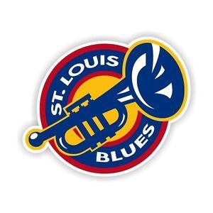 "St Louis Blues ""Trumpet"" Decal / Sticker Die cut"