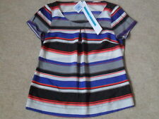 Short Sleeve Petite Striped Classic Tops & Shirts for Women