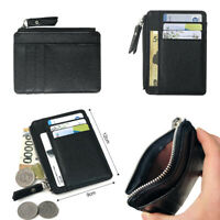 Fashion Men PU Leather Money Clip Slim Wallet ID Credit Card Holder Case Purse