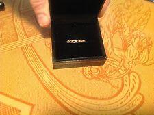10 Karat Gold Ruby and Diamond Band Ring- 5 1/2