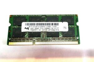 MICRON APPLE RAM MT16JSF51264HZ 4GB DDR3 204 PIN PC3-10600S SODIMM MEMORY