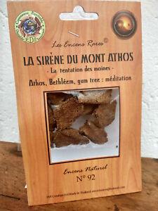 Encens rare sirene du mont athos:méditation,ingrédients naturels équitable n°92