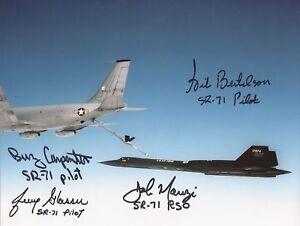 Blackbird SR71 multi signed by 4 crew photo COA UACC & AFTAL Dealer